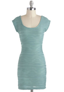 Ripple Tide Dress in Seafoam