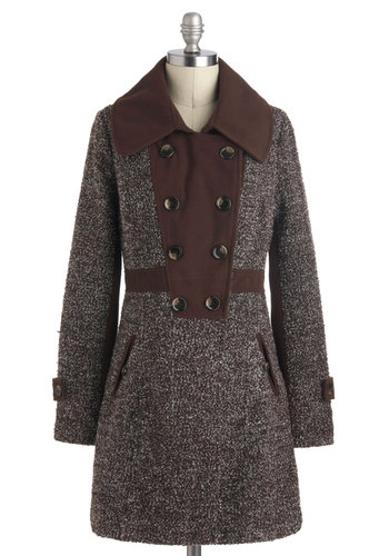 Sweet and Spicy Coat - Brown, Buttons, Pockets, Long Sleeve, Holiday Sale, Long, 3