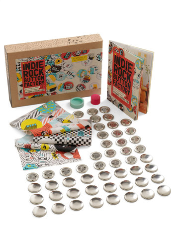 Indie Rock Button Factory by Chronicle Books - Multi, Handmade & DIY, Music