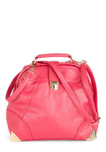 Flamingo Get 'Em Bag - Solid, Faux Leather, Luxe, Urban, Pink