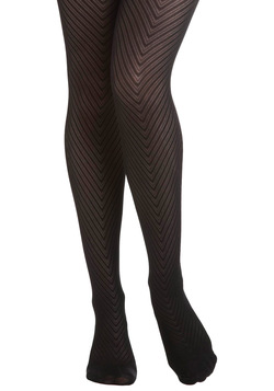 Donning Chevron Tights