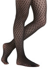 Megapixel This Tights - Black, Polka Dots, Party