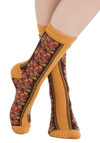 Savor Sunday Socks - Yellow, Multi, Floral