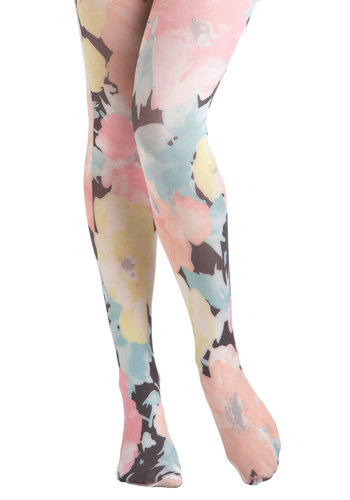 Pastel Me About It Tights - Multi, Floral, Sheer, Pastel, Tis the Season Sale