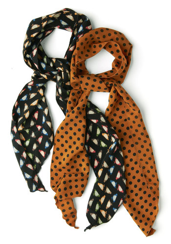 See Spot Fun Scarves in Birds - Yellow, Multi, Print with Animals, Blue, Polka Dots, Tis the Season Sale