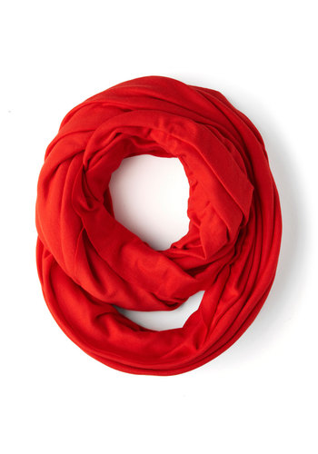 Start with the Basics Circle Scarf in Pepper - Red, Solid, Cotton, Tis the Season Sale