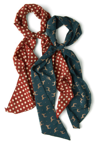 See Spot Fun Scarves in Pups - Red, Multi, Print with Animals, Blue, Polka Dots, Tis the Season Sale, Multi