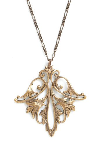 Filigree on Everything Necklace - Gold, Vintage Inspired, 20s, French / Victorian, Tis the Season Sale