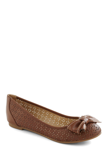 Window to the Sole Flat - Brown, Bows, Flat, Cutout, Casual