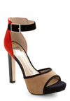 Just the Way I Glam Heel by Dolce Vita - High, Colorblocking, Red, Tan / Cream, Black, Party