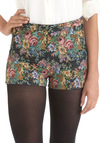 Tapes-'tres' Chic Shorts - Multi, Green, Blue, Pink, Black, Gold, Floral, Daytime Party, Short
