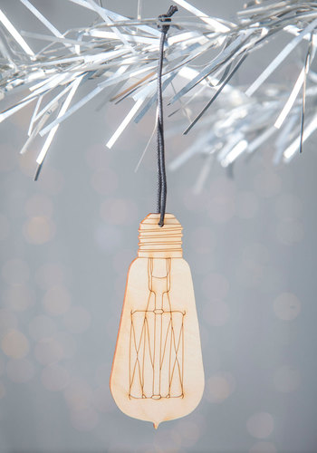 Merry and Bright Idea Ornament - Tan, Urban, Rustic, Holiday