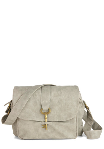 Keystone State Bag in Stone - Grey, Solid, Faux Leather, Pockets, Casual, Urban, Tis the Season Sale