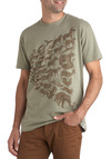 Me and Zoo Forever Tee - Green, Brown, Casual, Short Sleeves, Cotton, Print with Animals