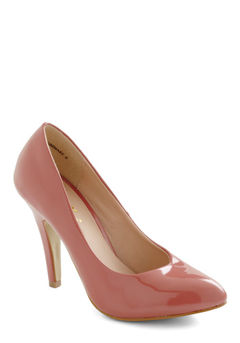 Profit and Gloss Heel in Pink - Pink, Solid, Work, Variation