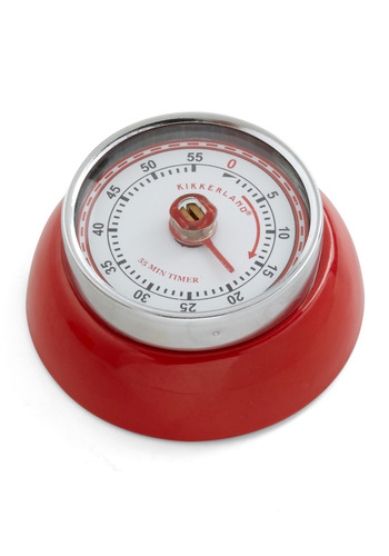 Timing is Everything Kitchen Timer by Kikkerland - Red, Vintage Inspired, 60s, Tis the Season Sale