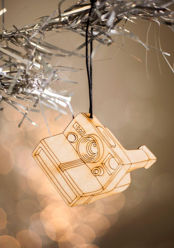 Film My Heart With Joy Ornament - Brown, Holiday, Vintage Inspired, Handmade & DIY