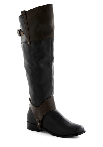 Rein Austin Boot in Fortnight Frolic by Restricted - Black, Brown, Solid, Flat, Buckles, Tis the Season Sale, Variation