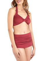 Bathing Beauty Two Piece in Wine