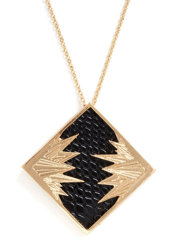 Apollo Yes Necklace - Black, Urban, Gold