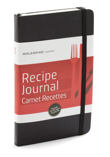 Watch and Yearn Recipe Journal by Chronicle Books - Black, Handmade & DIY