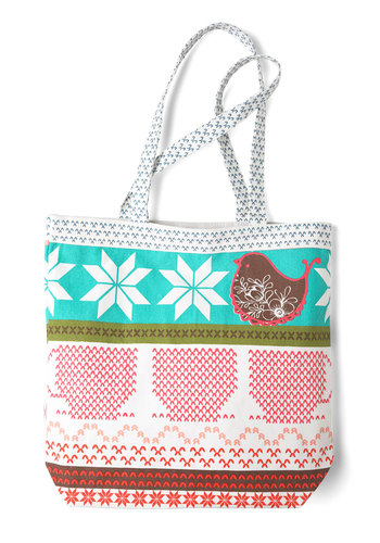 Right on the Market Bag by Disaster Designs - Tis the Season Sale, Multi, Red, Blue, Novelty Print, International Designer