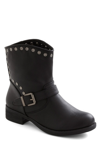 Set the Pace Boot - Low, Black, Solid, Buckles, Studs, Casual, Urban, Tis the Season Sale