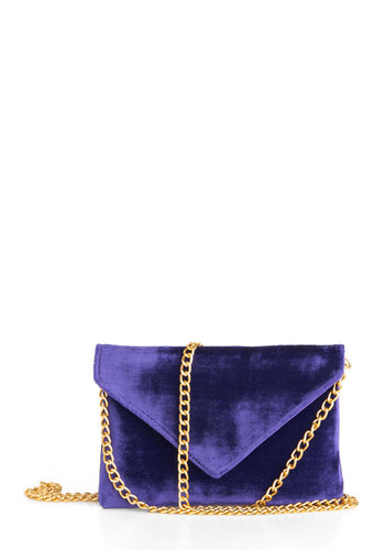 What I Amethyst Bag - Purple, Gold, Solid, Chain, Formal, Prom, Wedding, Party, Cocktail, Girls Night Out, Luxe