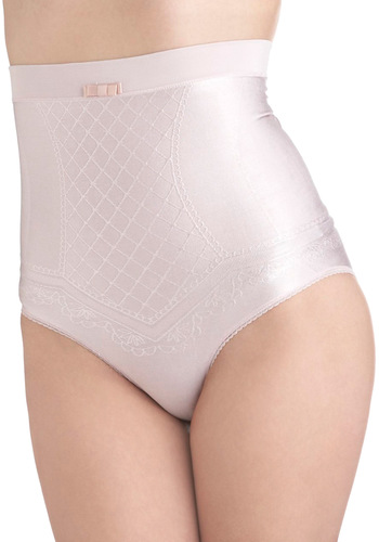 Haute of Office Contouring Undies - Pink, Tan / Cream, Solid, Bows, Trim, Seamless, Pinup