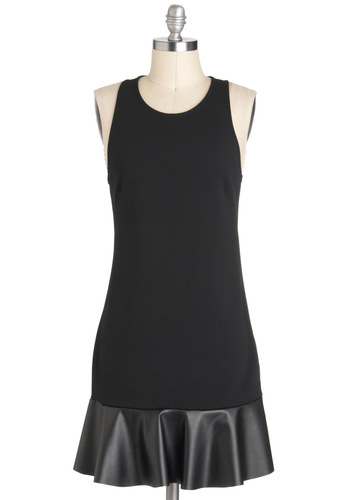 You Got the Powerhouse Dress - Black, Solid, Shift, Sleeveless, Racerback, Ruffles, Short, Party, Girls Night Out, Urban