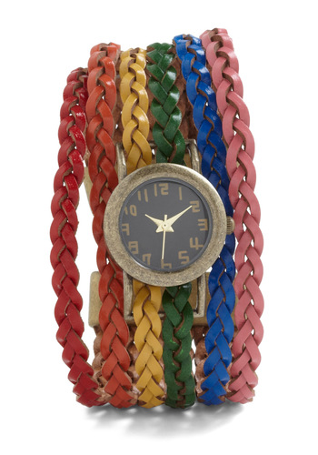Haste the Rainbow Watch - Multi, Braided, Tis the Season Sale
