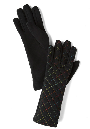 Snuggly Spectrum Gloves - Black, Multi, Solid, Print, Winter
