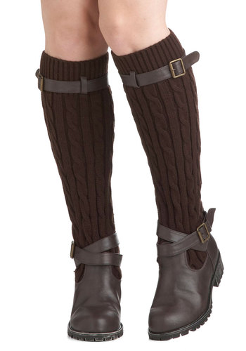 Change For The Sweater Boot in Oak by Restricted - Brown, Solid, Buckles, Knitted, Casual, Fall, Winter, Low, Leather, Tis the Season Sale, Rustic