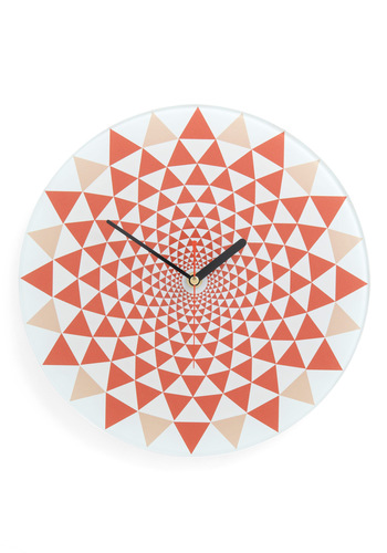 Illusion of Time Clock - Red, Vintage Inspired, 60s, 70s, Dorm Decor