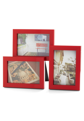 Red Letter Day Trip Frame - Red, Dorm Decor, Graduation, Travel
