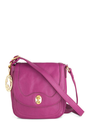 Sense of Wonderful Bag - Purple, Solid, Faux Leather