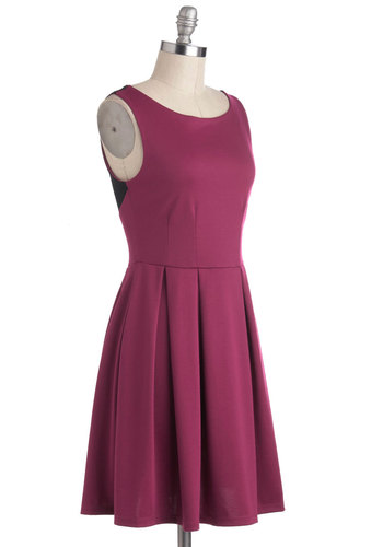 A Sure Sorbetto Dress - Pink, Black, Pleats, Casual, A-line, Sleeveless, Mid-length