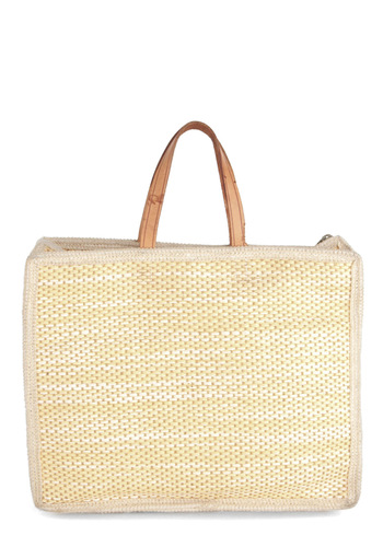 Vintage I Came, I Straw Handbag