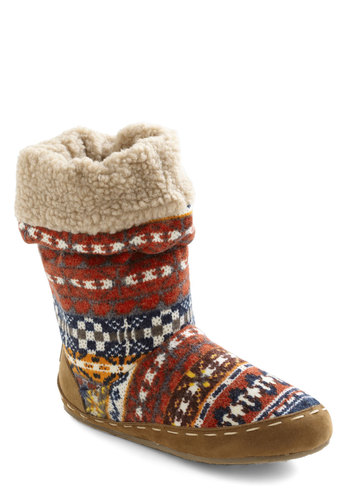 Cozy Cachet Slipper in Fair Isle - Flat, Multi, Print, Rustic, Winter, Tis the Season Sale