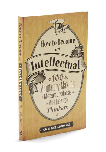 How to Become an Intellectual - Vintage Inspired, Dorm Decor, Quirky, Scholastic/Collegiate