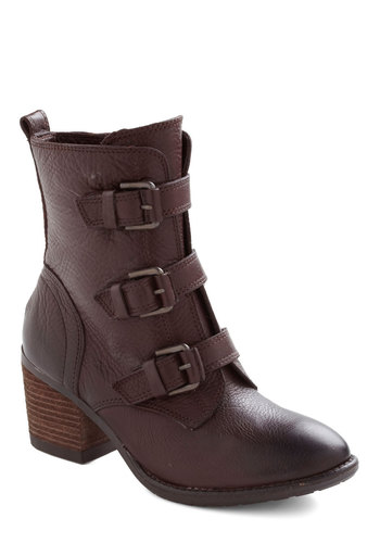 S'more to Life Boot - Mid, Leather, Brown, Buckles, Steampunk, Tis the Season Sale