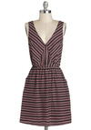 Seed and Be Seen Dress - V Neck, Mid-length, Multi, Print, Pockets, Casual, A-line, Sleeveless
