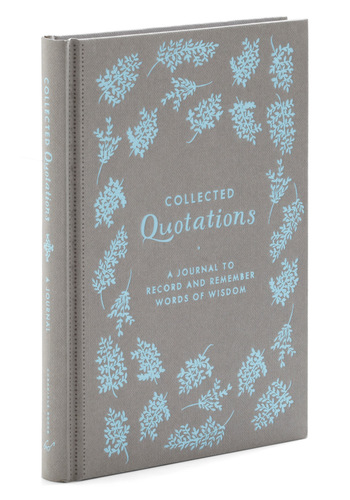 Collected Quotations Journal by Chronicle Books - Multi, Vintage Inspired, Dorm Decor, Graduation, Good