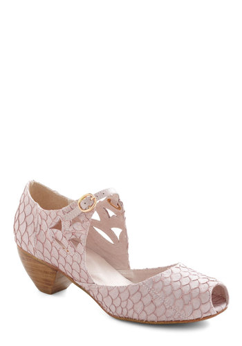 Seabreeze Celebration Heel - Pink, Animal Print, Cutout, Mary Jane, Chunky heel, Mid, Leather, Luxe, Graduation