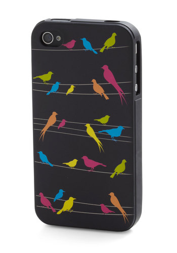 Give Me a Wing iPhone Case - Black, Multi, Print with Animals