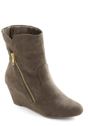 Vogue Versatility Boot - Tan, Solid, Wedge, Mid, Faux Leather, Urban