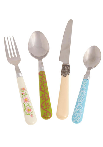Cutensils Flatware Set by Present Time - Multi, Pastel, Best Seller, Best Seller, Daytime Party, Better, Top Rated