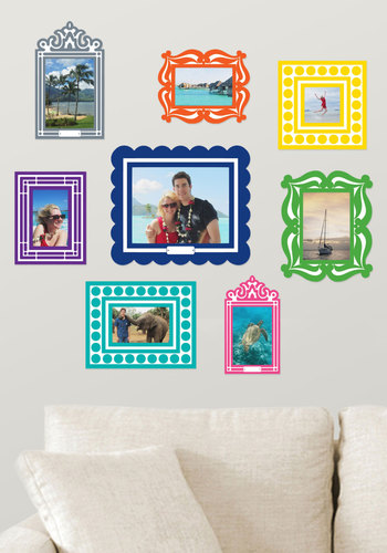 Frame of Deference Wall Decal Set in Brights - Multi, Dorm Decor, Vintage Inspired, Handmade & DIY, Good, Gals, Under $20