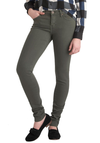 Olive These Pants - Denim, Green, Pockets, Casual, Urban