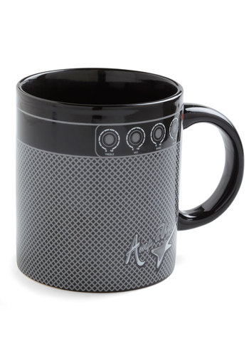 Resting 1 , 2 , 3 Mug by Gama-Go - Black, Music